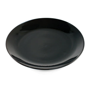 "[Clearance] Tenmoku Glazed Black Plate 12.52"" dia"