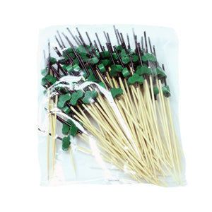 "Decorative Picks for Appetizers and Cocktails Green Pine Tree 4.72"" (100/pack)"