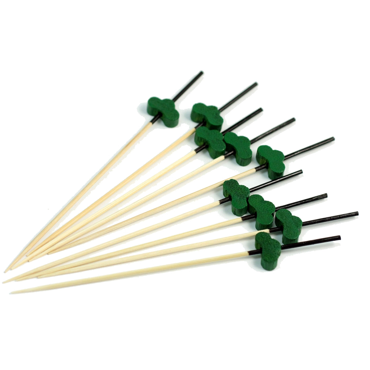 "[Clearance] Decorative Picks for Appetizers and Cocktails Green Pine Tree 4.72"" (100/pack)"