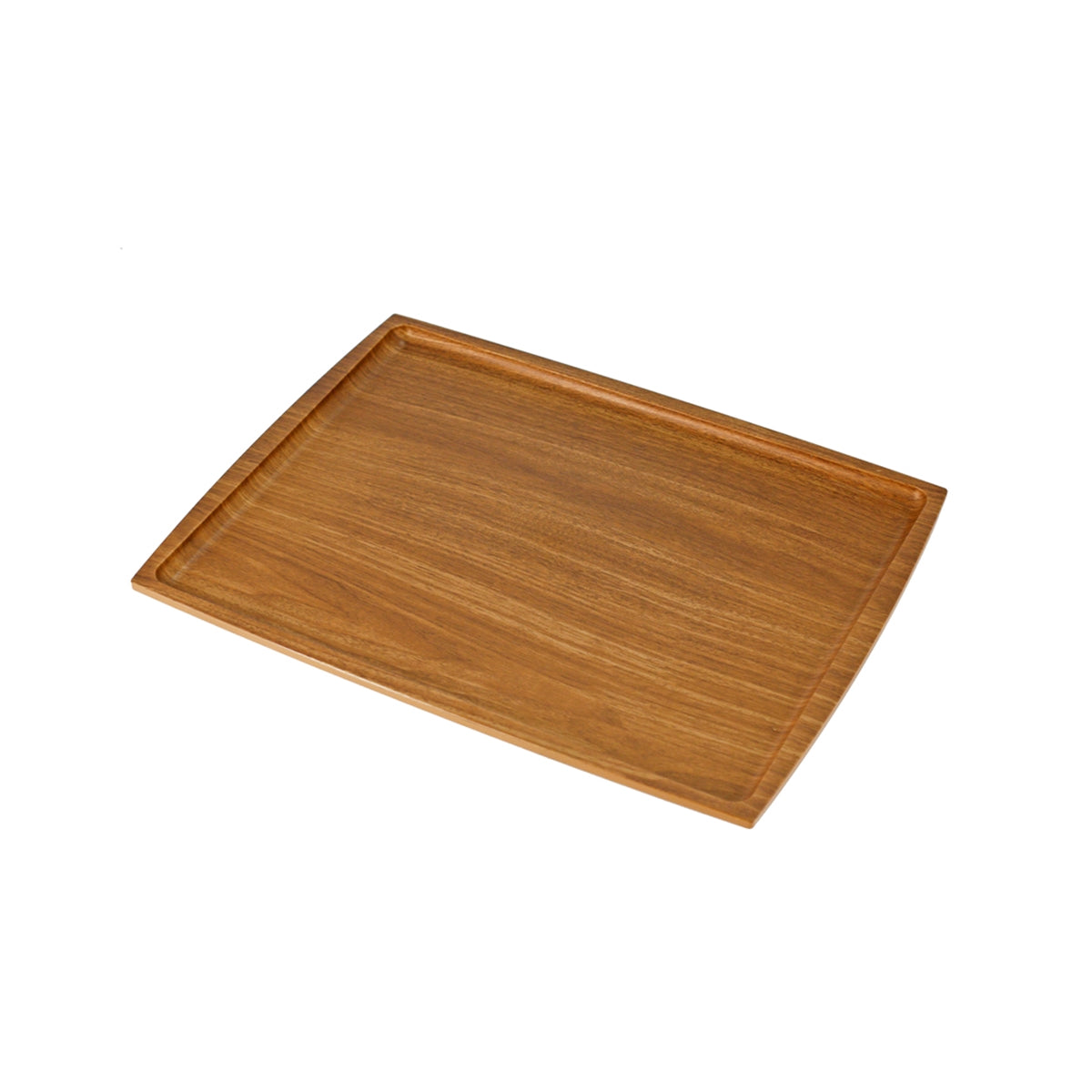 "Non-slip Rectangular Tray with Wooden Pattern 12.99"" x 9.45"""