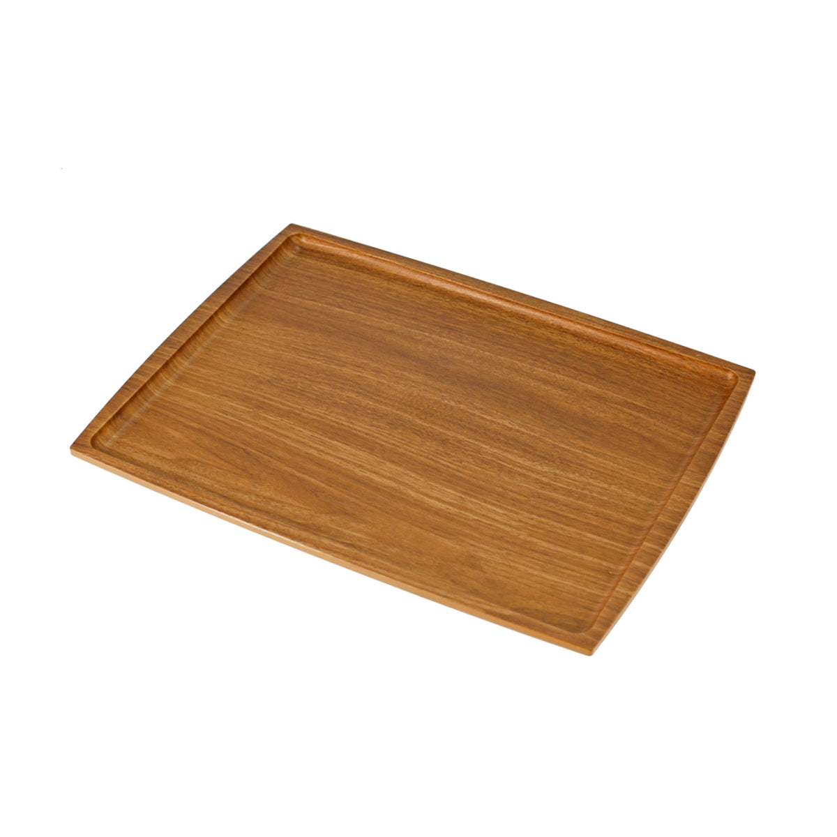 "Non-slip Rectangular Tray with Wooden Pattern 14.17"" x 10.63"""