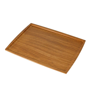 "Non-slip Rectangular Tray with Wooden Pattern 15.35"" x 11.81"""