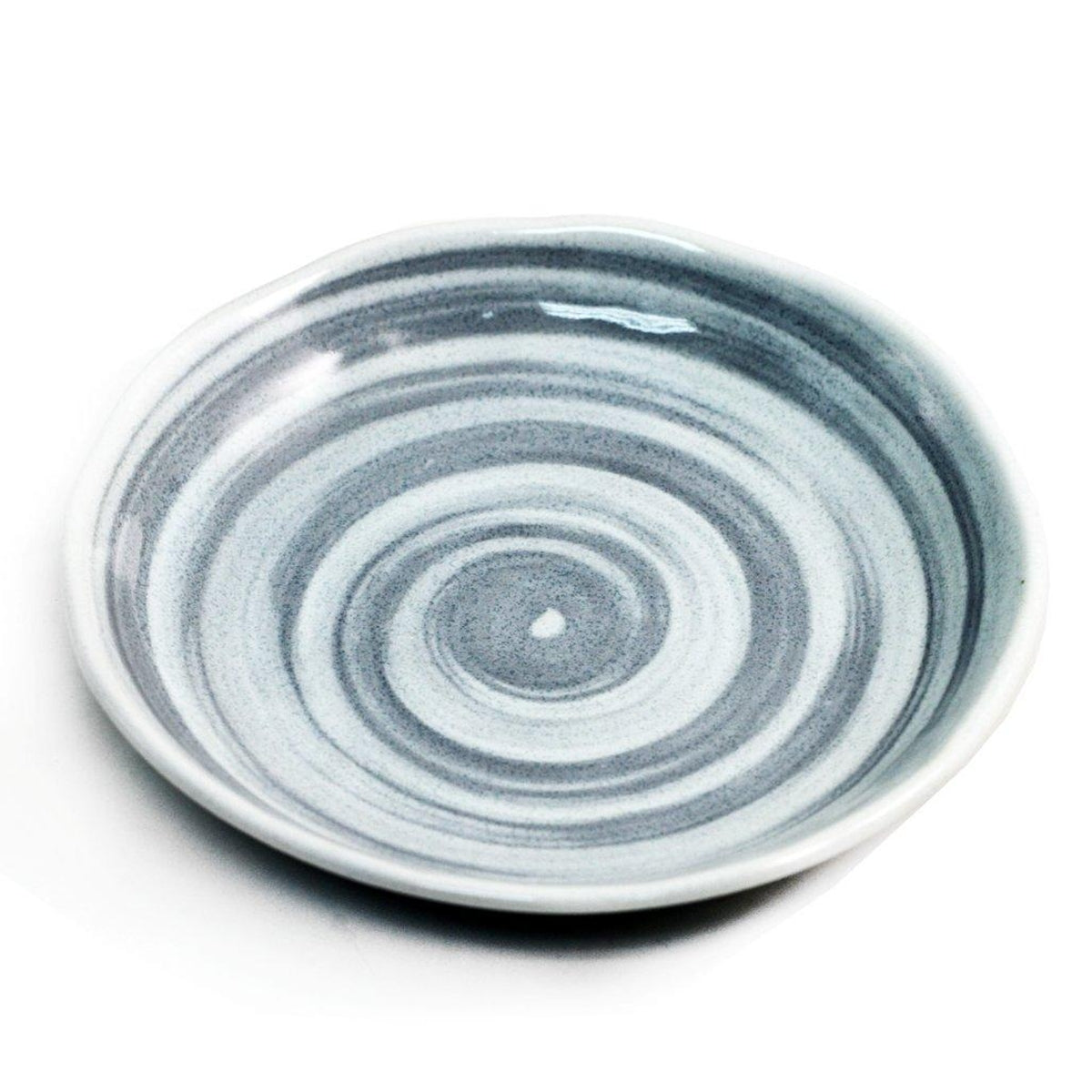 "Gray Spiral Plate 6.65"" dia"