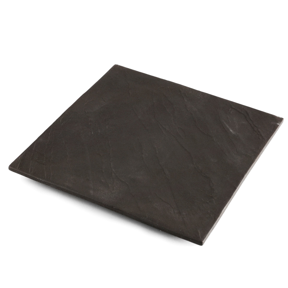 "Charcoal Gray Square Dinner Plate 8.46"" x 8.46"""