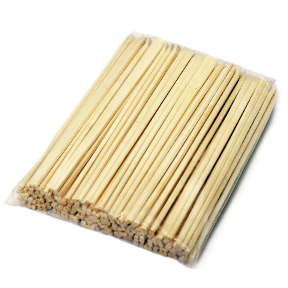 "8"" Disposable Sloped Tip Poplar Chopsticks - 100 Pairs / Pack"