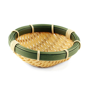 "Washable Faux Bamboo Bowl 7.1"" dia"