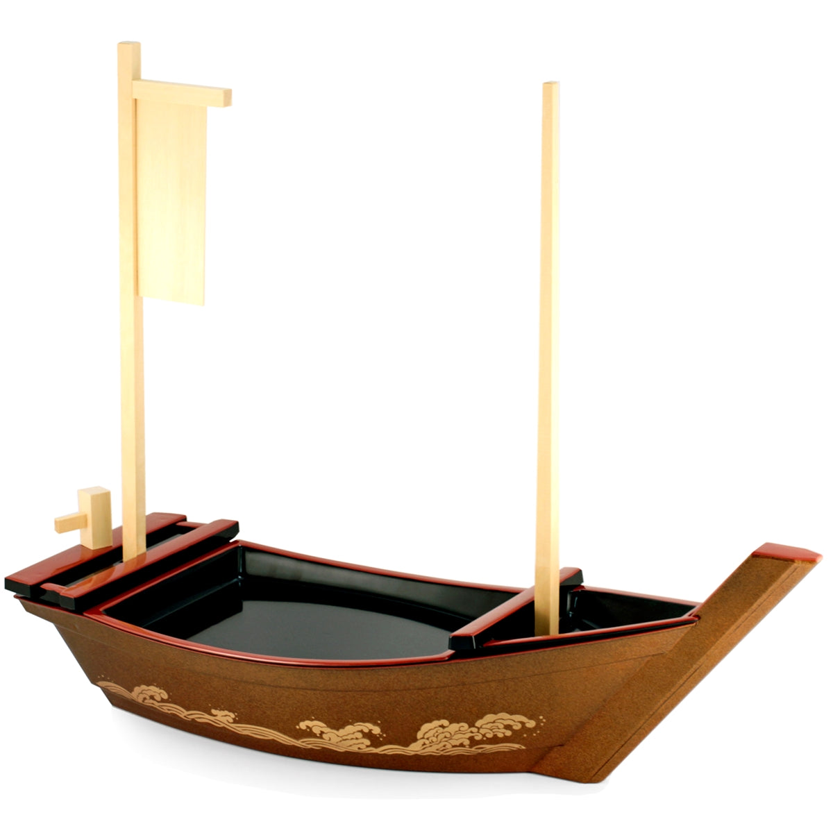 [Clearance] Sushi Serving Treasure Boat Red Medium