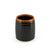 "[Clearance] Glossy Black Yunomi Tea Cup with Brown Trim 5.7 fl oz / 2.68"" dia"