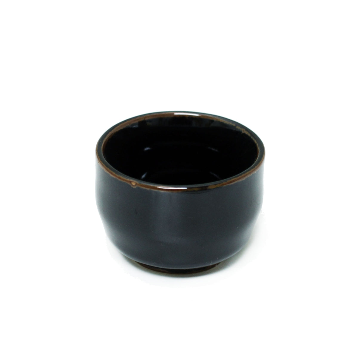 Tenmoku Glazed Black Ceramic Sake Cup 2 fl oz