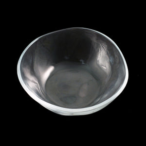 "Organic Shaped Glass Bowl 9 fl oz / 5.04"" dia"