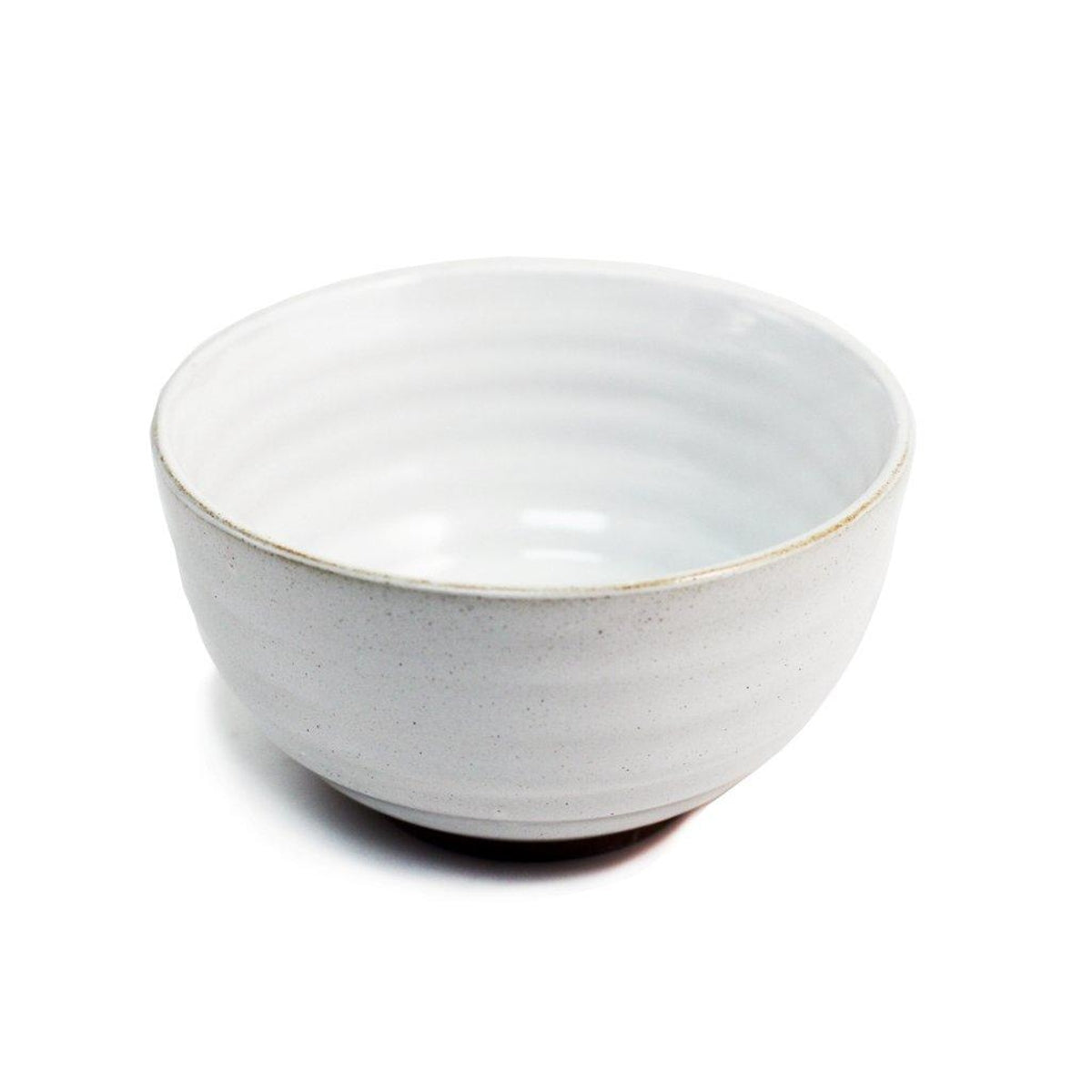 "Ridged White Noodle Bowl 28 fl oz / 5.9"" dia"