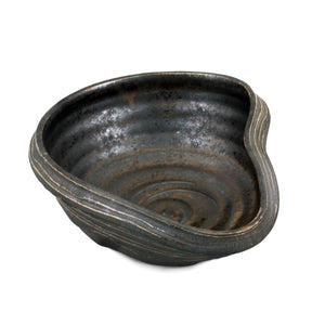 "[Clearance] Charcoal Gray Asymmetrical Bowl 9.84"" x 8.27"""