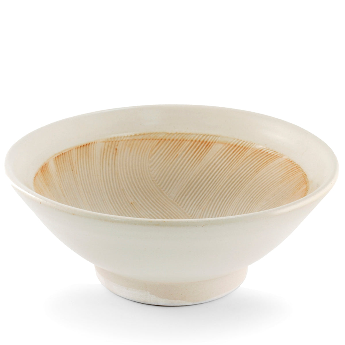 "Ivory Large Bowl with Japanese-style Mortar (Suribachi) 80 fl oz / 9.96"" dia"
