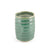 "Ridged Emerald Green Tea Cup 8.6 fl oz / 2.95"" dia"