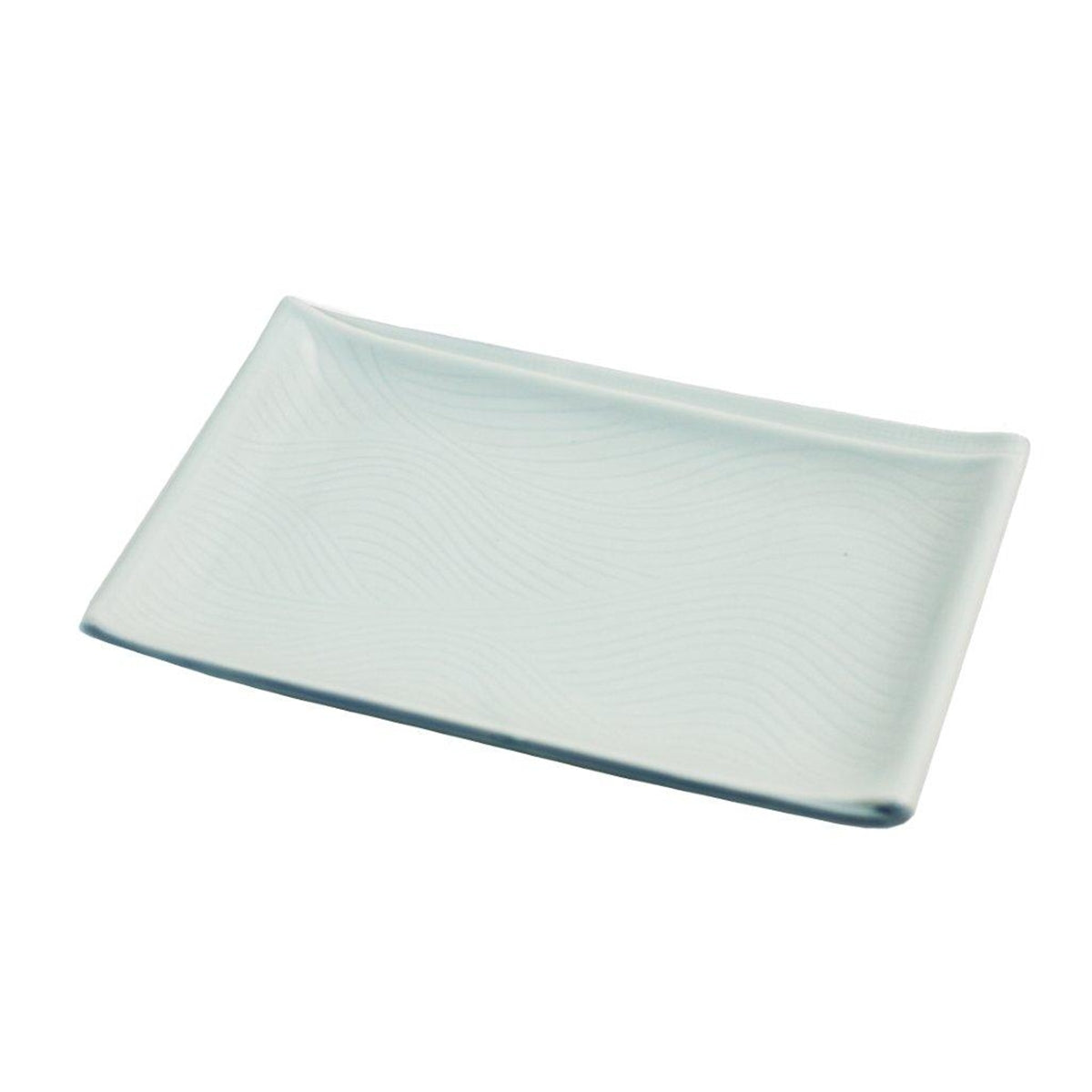 "Light Sage Rectangular Plate 8.07"" x 5.16"""