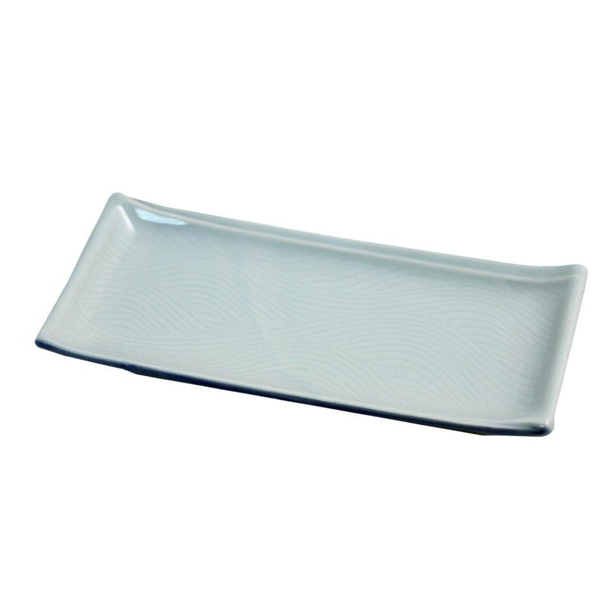 "Light Sage Rectangular Plate 8.23"" x 3.7"""