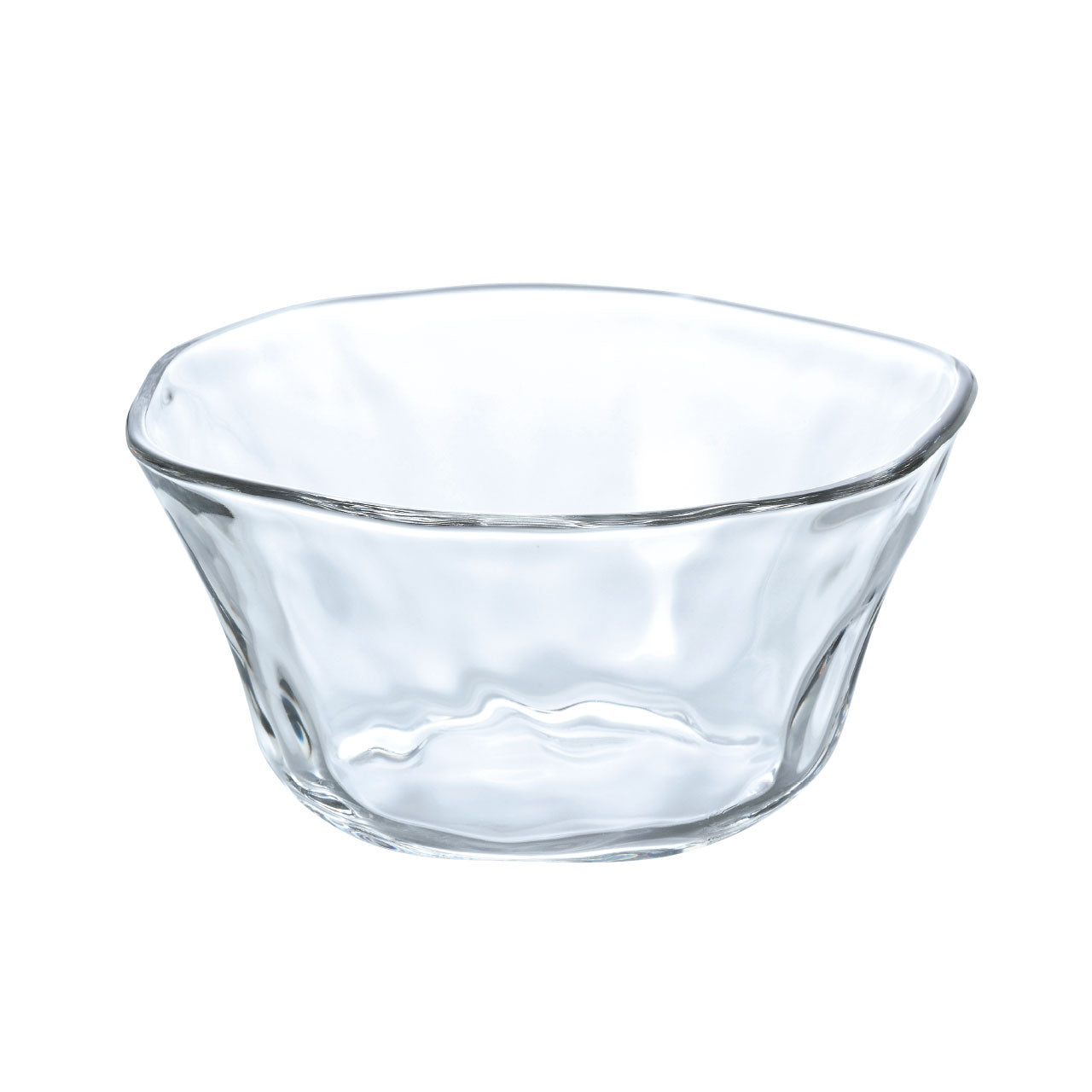 "Organic Shaped Glass Salad Bowl 27 fl oz / 6.5"" dia"