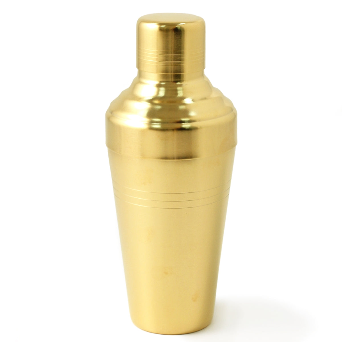 Yukiwa Matte Gold-Plated Baron 3-Piece Cocktail Shaker 410ml (13.8 oz)