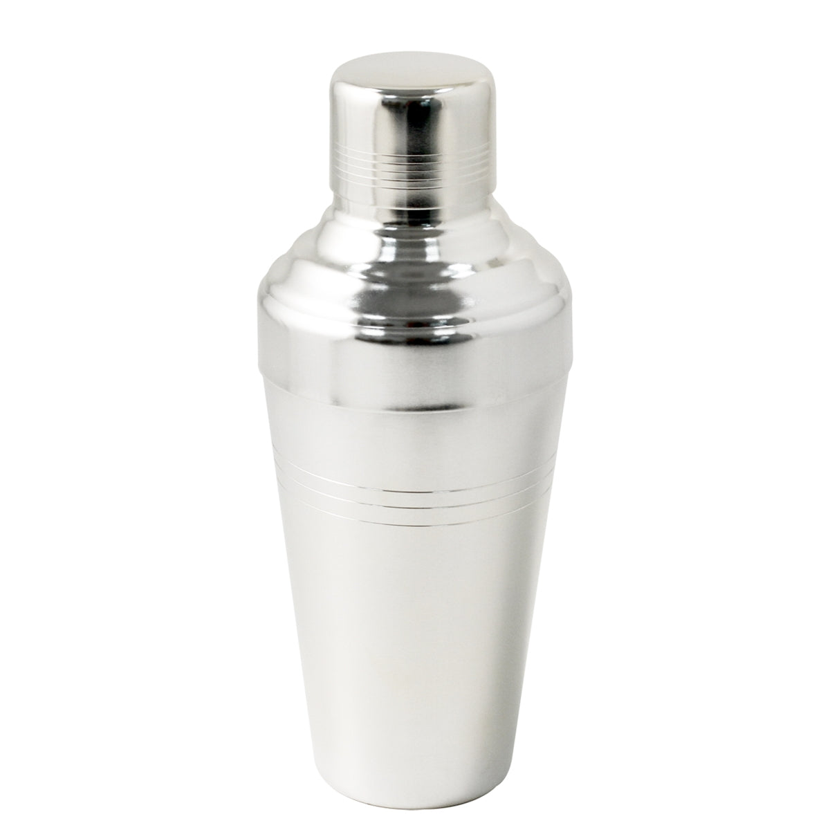 Yukiwa Matte Silver-Plated Baron 3-Piece Cocktail Shaker 410ml (13.8 oz)