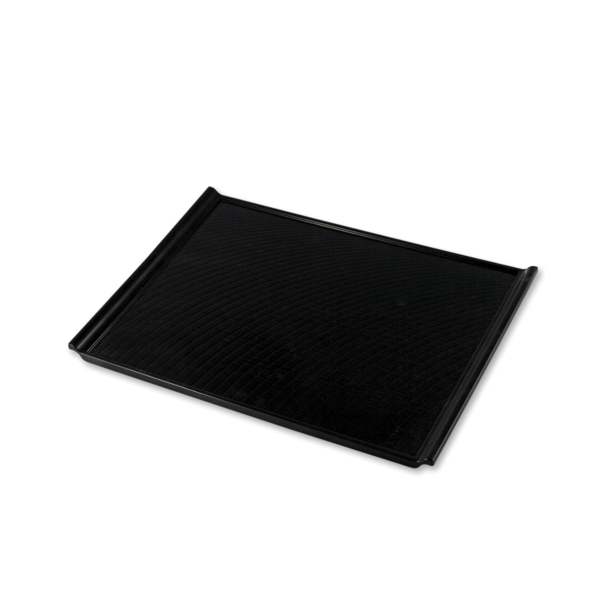 "Non-slip Black Rectangular Serving Tray with Handles 15.55"" x 10.87"""