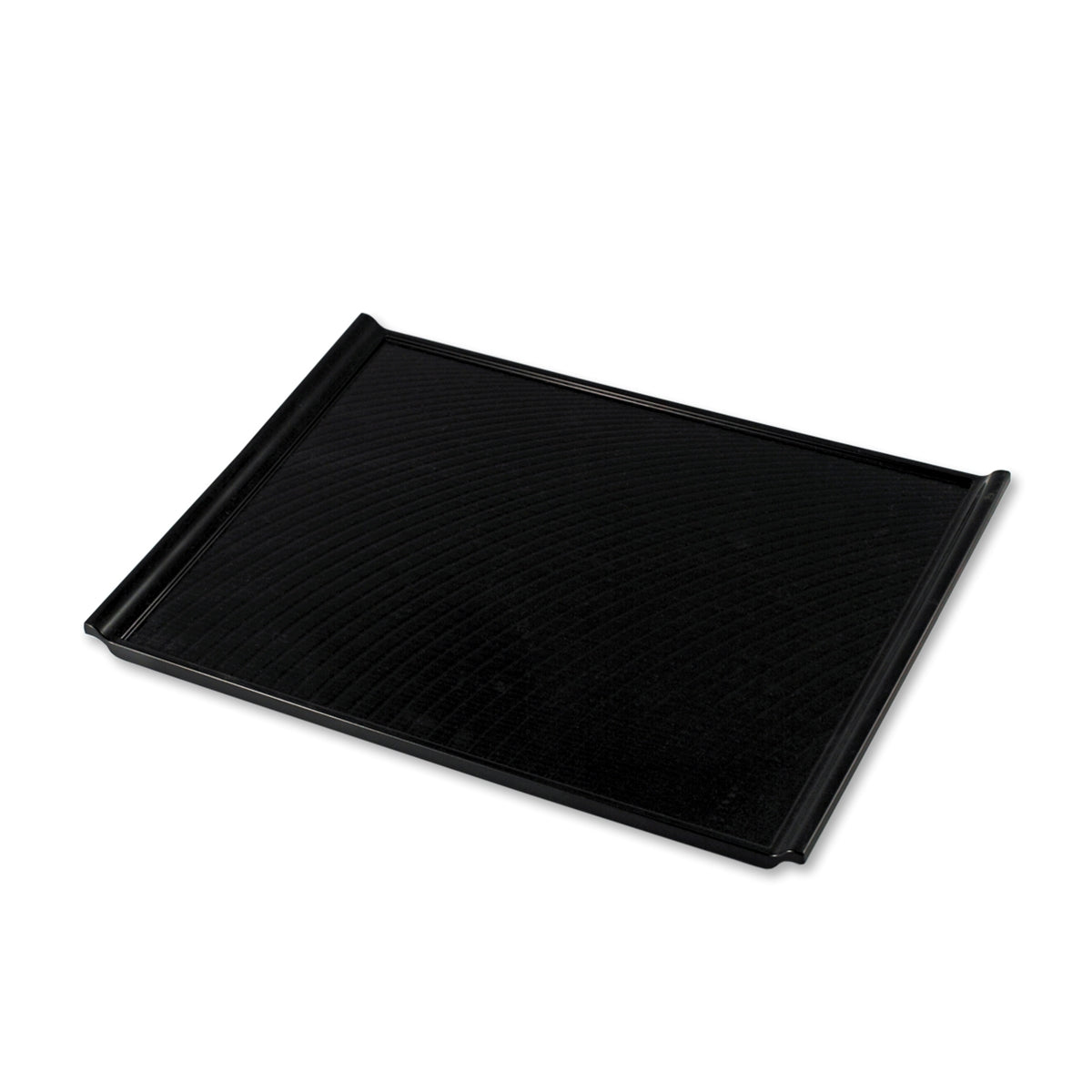 "Non-slip Black Rectangular Serving Tray with Handles 16.81"" x 12.2"""