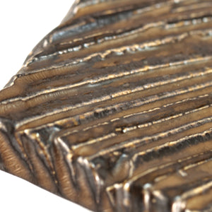 "Kinkessho Bronze Textured Rectangular Plate 12.87"" x 5.67"""