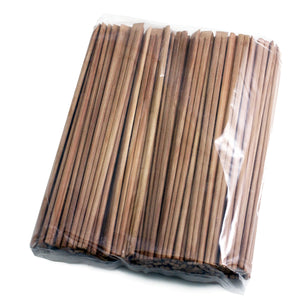 "9.5"" Disposable Carbonized Slanted Tip Bamboo Chopsticks - 3000Pairs/Case"
