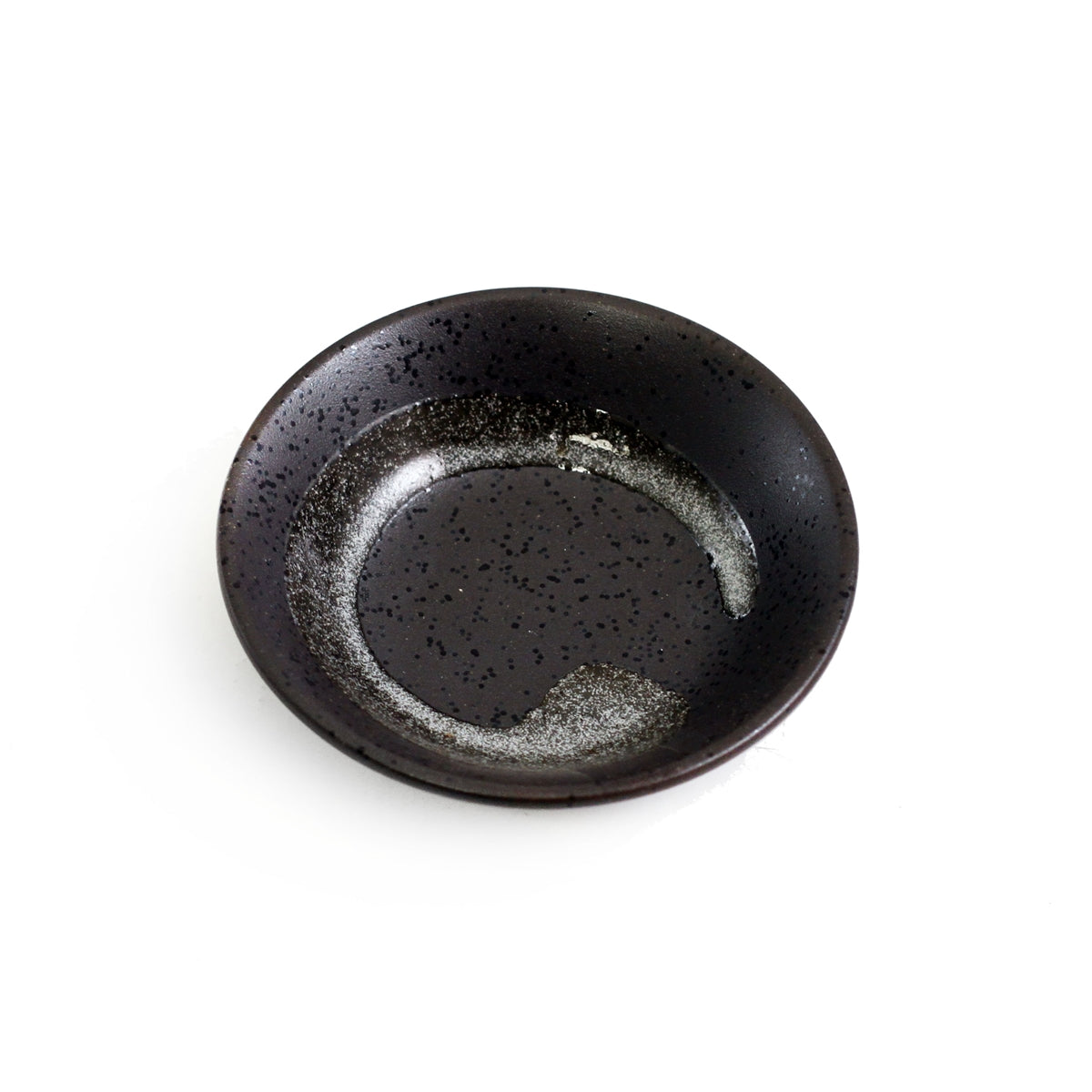 "Black Brushstroke Kobachi Bowl 2.5 fl oz / 3.62"" dia"