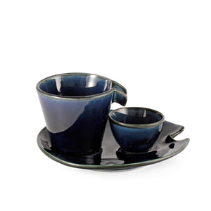 Cobalt Blue Glossy Ceramic Sake Server 4 fl oz