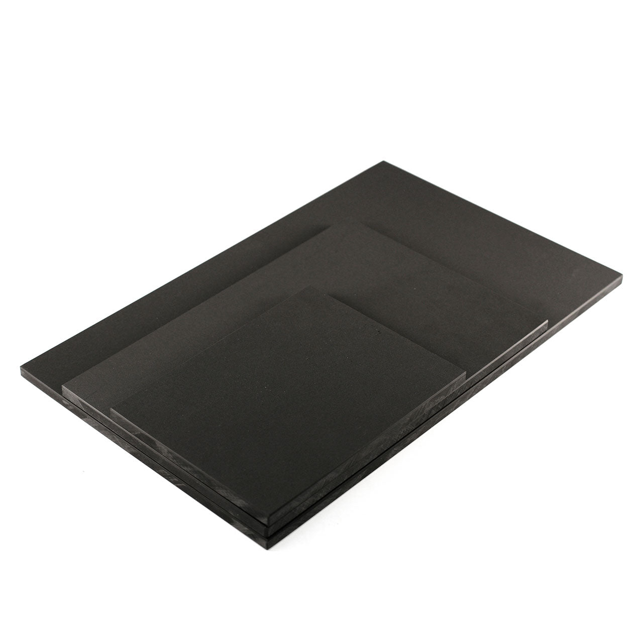 "Tenryo Black Embossed High Contrast Cutting Board 0.4"" ht"