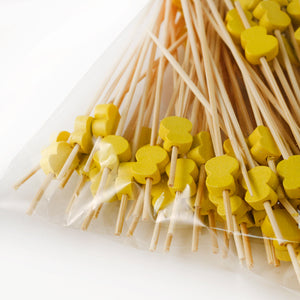 "[Clearance] Decorative Picks for Appetizers and Cocktails Yellow Hyotan 4.72"" (100/pack)"