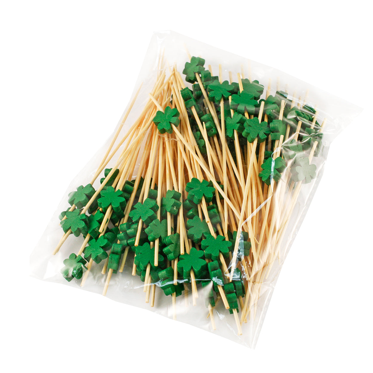 "[Clearance] Decorative Picks for Appetizers and Cocktails Green Leaf 4.72"" (100/pack)"