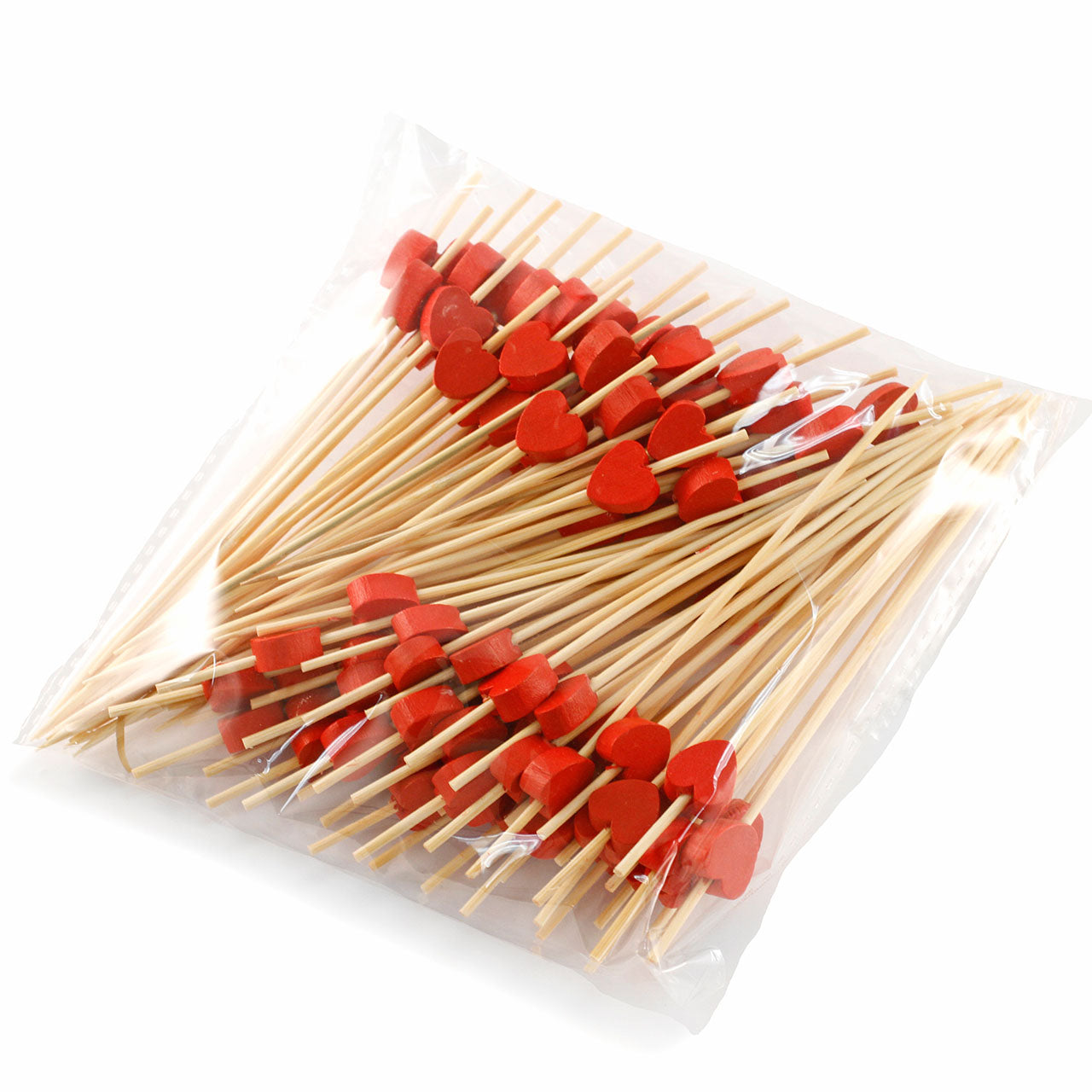 "[Clearance] Decorative Picks for Appetizers and Cocktails Red Heart 4.72"" (100/pack)"