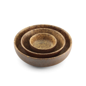 "[Clearance] Textured Small Bowl Earthy Brown Ceramic 8.2 fl oz / 4.49"" dia"