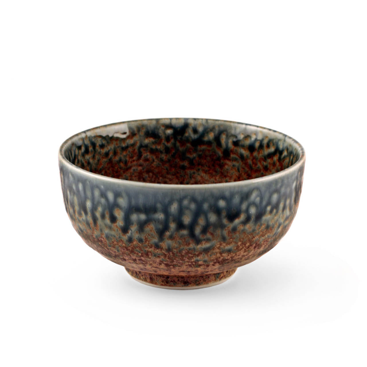 "Ainagashi Blue Earthy Rice Bowl 21 fl oz / 5.5"" dia"