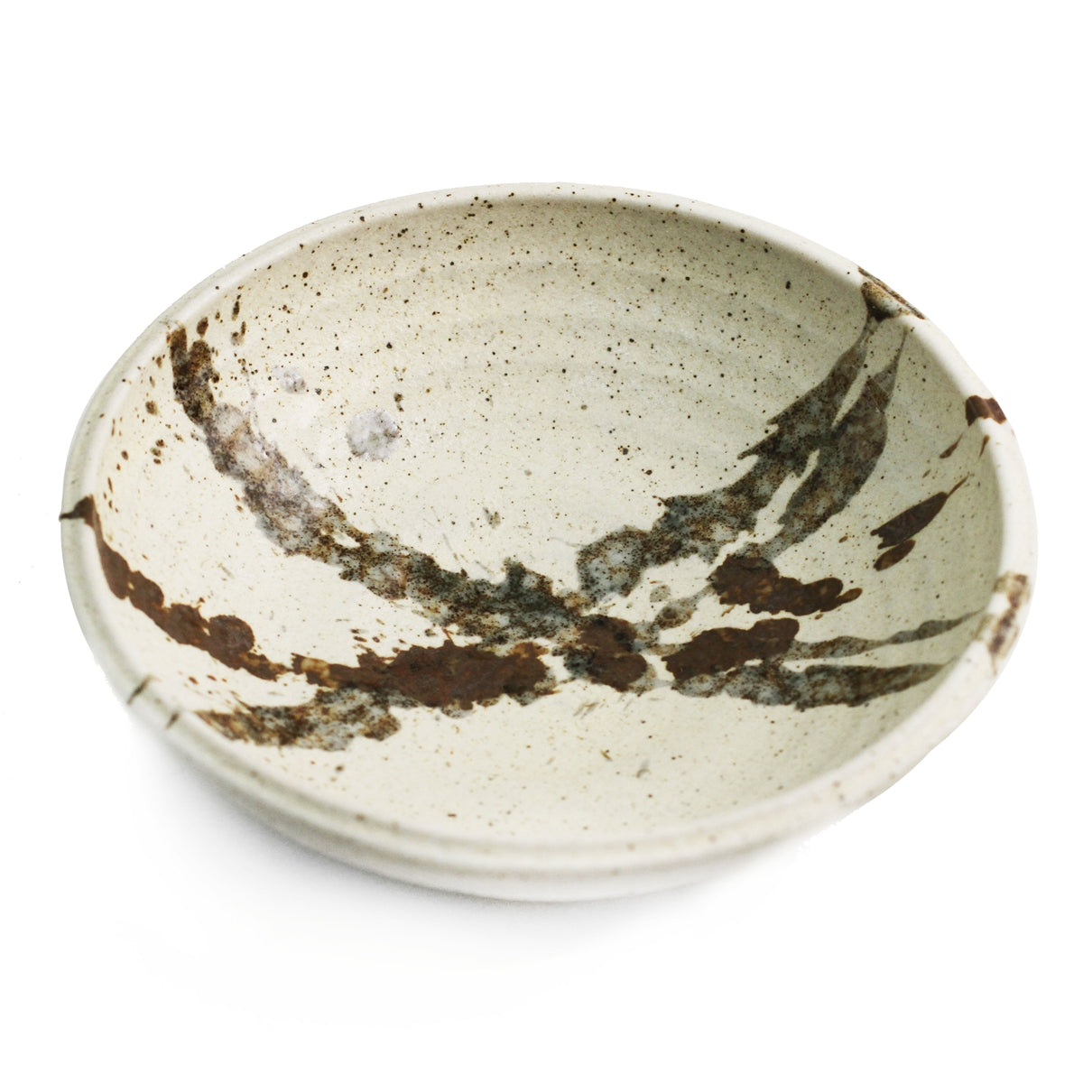 "Deep Abstract Ivory Plate 6.5"" dia"