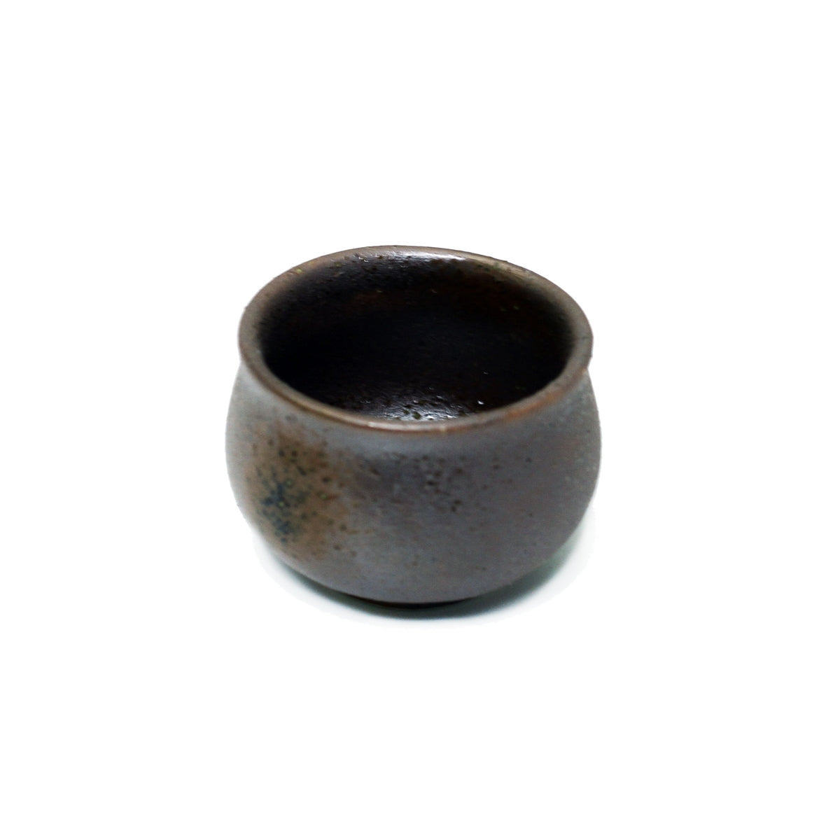 Rusty Brown Ceramic Sake Cup 1.5 fl oz