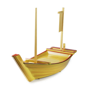 Sushi Serving Treasure Boat Yellow Large