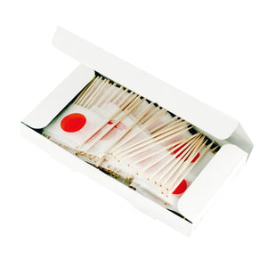 Decorative Picks for Appetizers and Cocktails Japanese Flag (200/box)