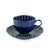 Giyaman Daisy Glossy Blue Coffee & Tea Cup 6 oz