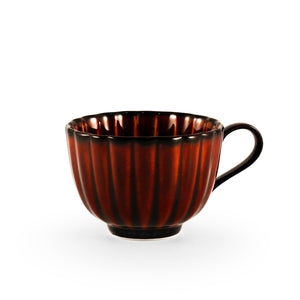 Giyaman Daisy Glossy Brown Coffee & Tea Cup 6 oz