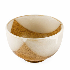 "[Clearance] Natsume Golden Brown and White layered Bowl 46 fl oz / 6.5"" dia"
