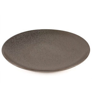 "Black Speckled Round Plate 10.5"" dia"
