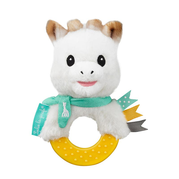 Sophie Teething Ring Rattle - Plush Collection