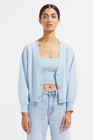 Baize Cardigan & Crop - Ice - steele label ?id=28141666271371