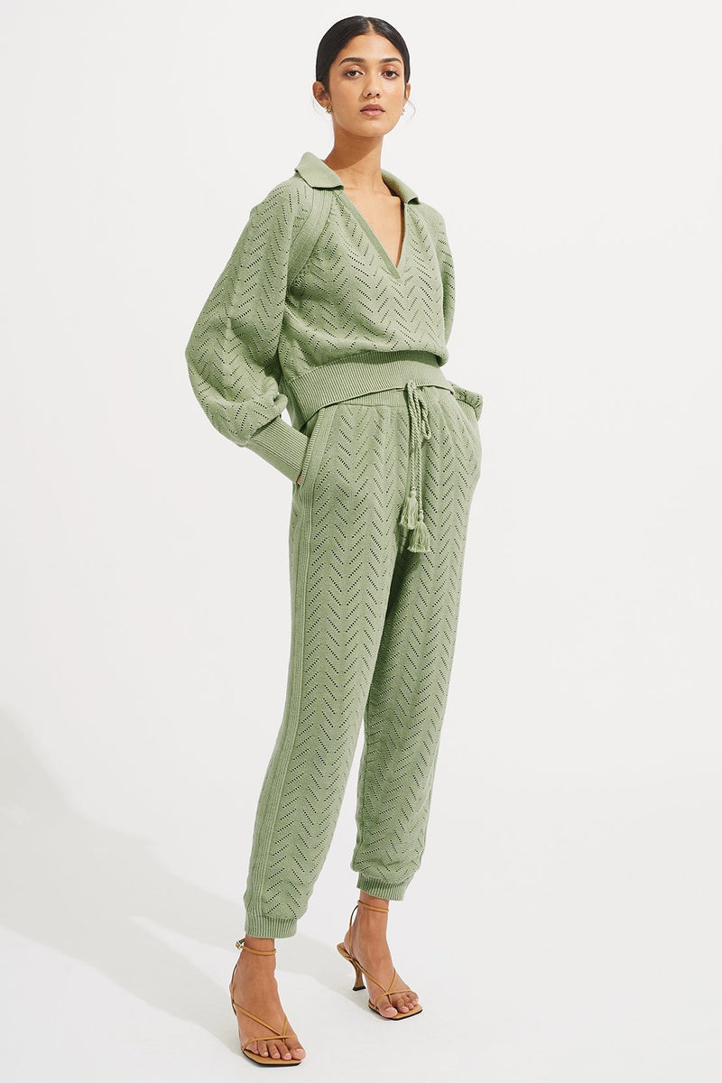 Quincy Sweater - Sage - steele label ?id=28043177918603
