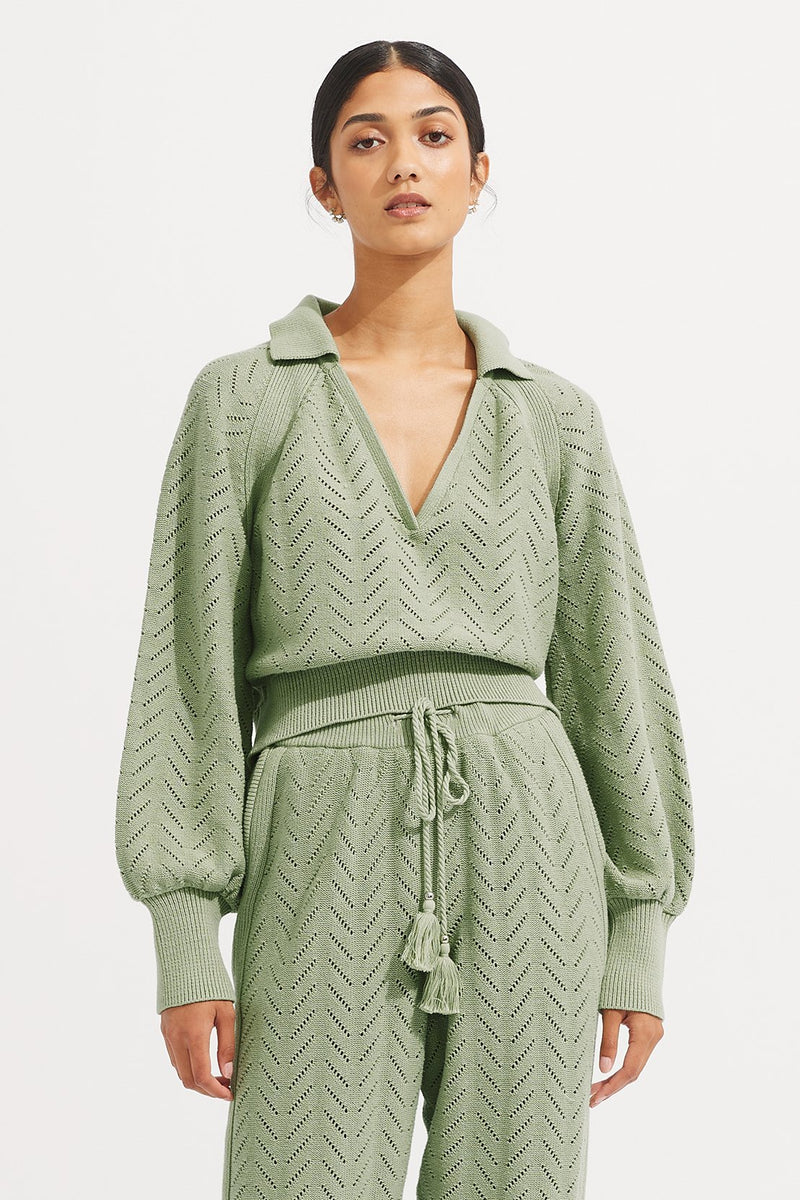 Quincy Sweater - Sage - steele label ?id=28043177951371