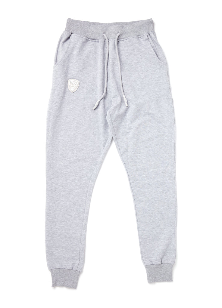 Member Collection GRAUE JOGGER mit weißem Logo
