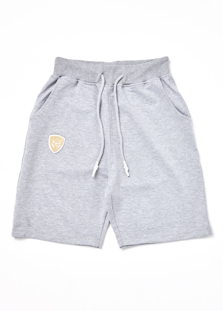 Member Collection GREY SHORTS with gold logo