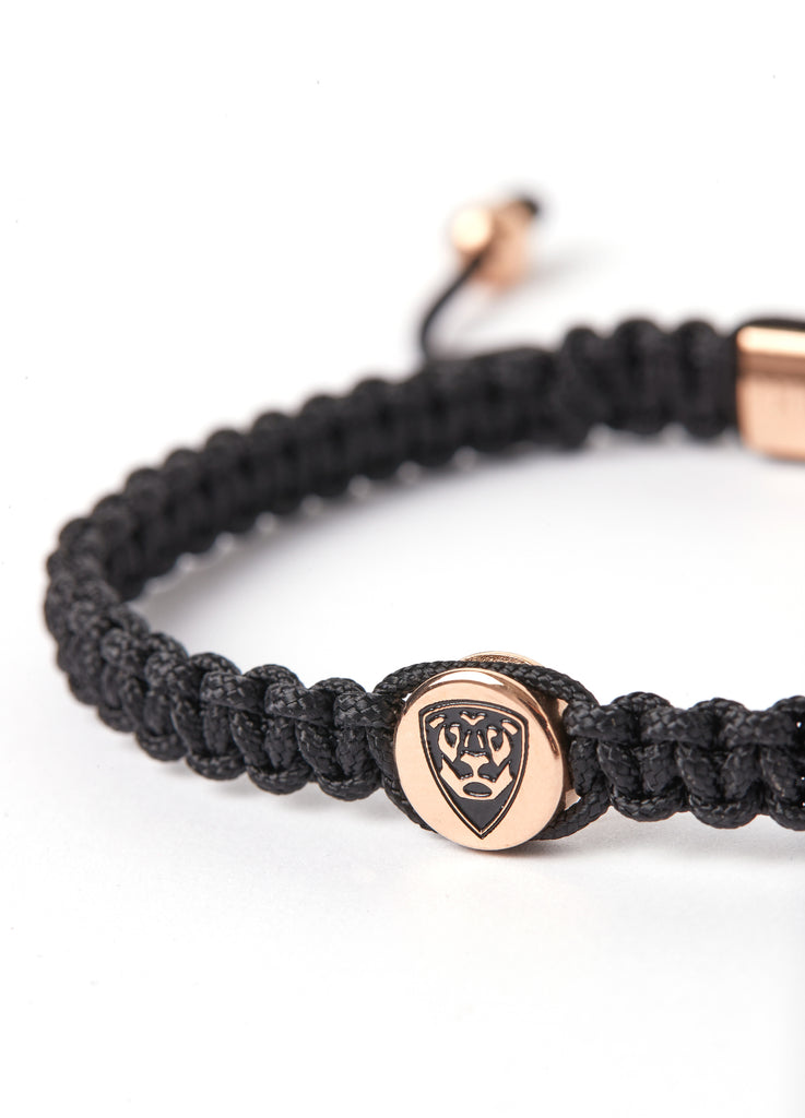 Special Pieces BLACK BRACELET with rose gold